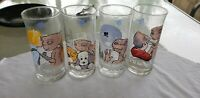 Pizza Hut ET 1982 Drinking Glasses Set Of 4 Vintage Collectible