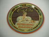 Vintage Drink Coca Cola Round Tin Tray 1976 Coke 75th Anniversary