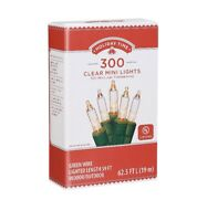 Holiday Time Imdoor/outdoor Clear Mini Christmas Lights 59' 300 Lights Green