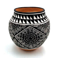 Native American Acoma Pueblo Pottery Bowl by Marilyn Ray