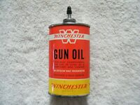 Vintage WINCHESTER GUN OIL CAN Lead Spout Top Handy Oiler 3 oz. household oil