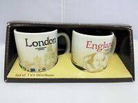 Starbucks Demitasse Cup Set of 2 London England 3oz Global Icon Series (710)