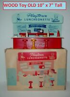 Vintage Toy Coca Cola Soda Fountain Luncheonette Wood Coke Diner Display MIB