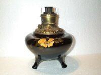 WoW SuPeRb WELLER Dickens Ware OIL LAMP Fostoria Font Very Late 1800's  RARE EX.