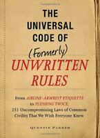 The Universal Code of Formerly Unwritten Rules From Airline Armres $3.99