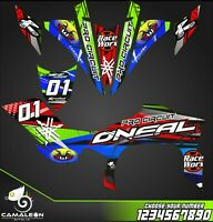 Yamaha YFZ 450R 450X 09-13 graphics decals kit stickers 450r 2009 to 2013 atv