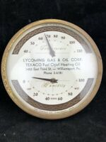 VINTAGE LYCOMING GAS & OIL TEXACO FUEL CHIEF HEATING OIL THERMOMETER HUMIDITY