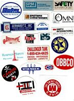 Collectible Hard Hat Oilfield Advertising Stickers Lot #34 20 Different Stickers