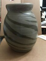 Billy Ray Hussey  pottery brown swirl jar North Carolina Pottery