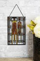 Frank Lloyd Wright Autumn Sumac Dana House Stained Glass Desktop Or Wall Plaque