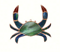 Crab Stained Glass Suncatcher