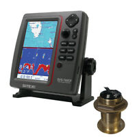 SI-TEX SVS-760CFB60-20 SVS-760CF Dual Frequency Chartplotter/Sounder with