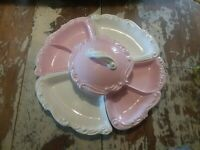 Vintage california pottery lazy susan