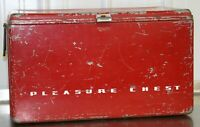 Vintage Pleasure Chest Antique Metal Cooler Progress Refrigerator Company KY