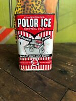 VINTAGE POLOR ICE ONE PINT CAN FULL GAS STATION SIGN OIL PICNIC COOLERS SPORTS