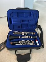 Yamaha 250 Plastic Clarinet #007540 And Carrying Case w/ 7 Rico 2 1/2 Reeds
