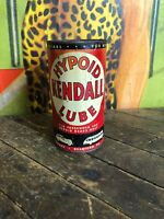 VINTAGE KENDALL HYPOID LUBE 1 LB OIL CAN FULL GAS STATION SIGN CAR BUS GREYHOUND