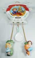 Vintage Campbell Kids Tomato Soup Wall Clock Danbury Mint 1997 Working