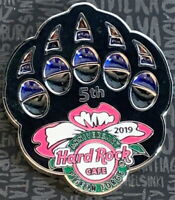 Hard Rock Cafe PIGEON FORGE 2019 5th Anniversary PIN Translucent Bear Paw 502713