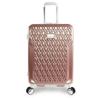 bebe Stella Rose Gold 21-inch Carry On Hardsided Spinner Pink