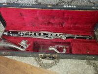 Bundy plastic bass clarinet #23365 with case no mouthpiece.