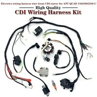150/200/250CC ATV Quad Buggy Wire Loom CDI Electric Wiring Harness Stator Kit US