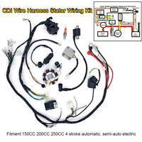 Wiring Harness Wire Loom CDI Electric Stator Kit for  ATV Quad 150CC 200CC 250CC