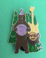 Hard Rock Cafe 2014 Pigeon Forge Grand Opening Brown Bear in Forest Guitar Pin