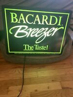 Bacardi Breezer - Vintage - Light Up Sign - Perfect For Bar Or Man Cave