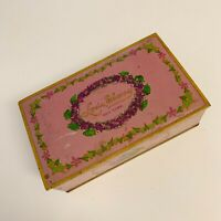 Louis Sherry Candy Tin / Lavender Pink From 1920s