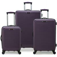 3 Piece Luggage Set Suitcase Travel Bag Trolley Hardside Spinner Wheels Purple