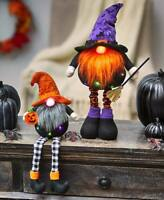 LIGHTED COLOR CHANGING SITTING OR STANDING HALLOWEEN GNOME HOME DECOR - SO CUTE!