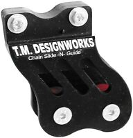 TM Design Works Rear Chain Guide and Dual Powerlip Roller Black #RCG-TRX-BK