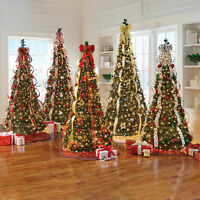 BrylaneHome Christmas Fully Decorated Pre-Lit 7 1/2' Pop-Up Christmas Tree