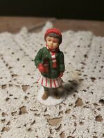 1992 Coca cola Village Miniature of girl with bottle Of Coke amp; skates 2.75quot; cola