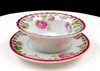 CARL TIELSCH GERMANY FLORAL AND GOLD 4 1/4