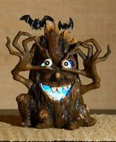 SPOOKY LIGHTED COLOR CHANGING HALLOWEEN SCARY TREE TABLETOP WINDOW DECOR