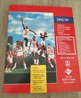 1992 93 Chicago Bulls Sprint Yellow Pages Directory