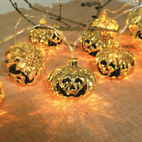 New Hot Pumpkin amp; Skull amp;Ghost Halloween String Lights Indoor Outdoor Decoration