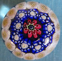 Antique French Baccarat ??  MINIATURE Concentric Paperweight
