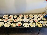 Collection of Blue Ridge Hand Painted Southern Potteries (30 Piece)