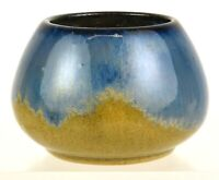 FULPER POTTERY BLUE FLAMBE GLAZE 3quot; TALL VASE SHAPE NUMBER 047