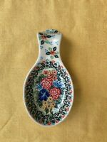 UNIKAT Polish Pottery Spoon Rest #3156; Signed T. Liana