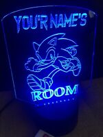 Sonic Hedge Hog Personalized LED Neon Light Sign Game Bed Room Color Change Rgb