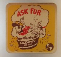 old KICKAPOO Joy Juice advertising coaster RC Royal Crown Cola Singapore Asia