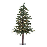 3 ft. x 21 in. Natural Alpine Tree with 191 Tips amp; 50 LED