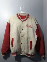 Vintage Coca Cola Jacket Grey Red Stained Torn slightly ≈ Size Medium Large