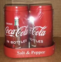Coca Cola Salt and Pepper Shakers SODA CAN NEW