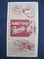 Vintage Robin Hood Flour Family Food Recipe Cook Booklet Test Kitchen Ad T