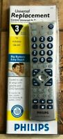 Philips 3 Device Big Buttons Easy Touch Universal Remote $12.90